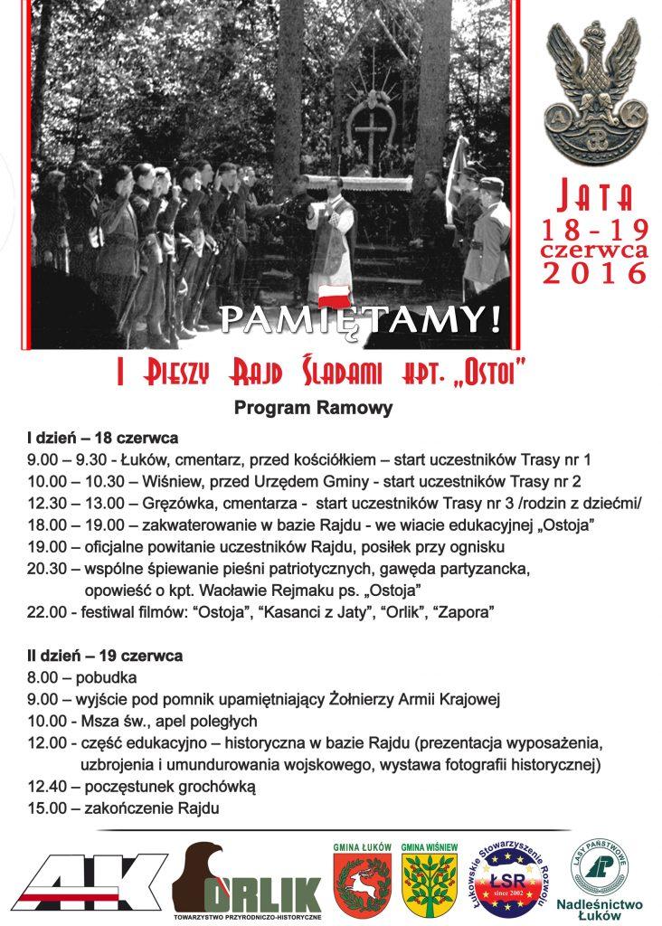 Program I Pieszy Rajd Śladami kpt. Ostoi